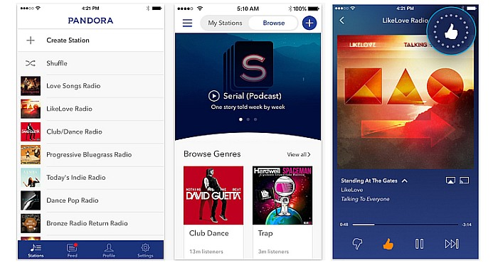 New Features added to the Pandora for iPhone