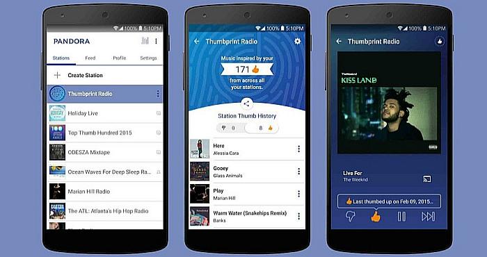Pandora App History