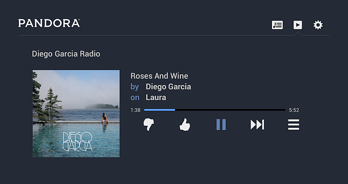 Pandora Radio App Features